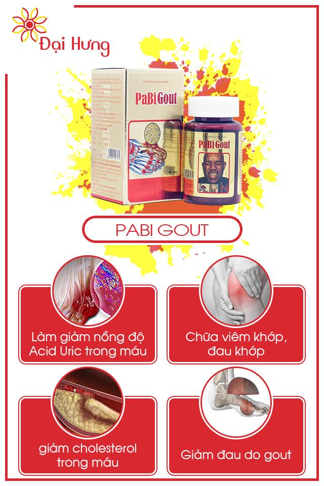 Hỗ trợ điều trị bệnh Gút Gout